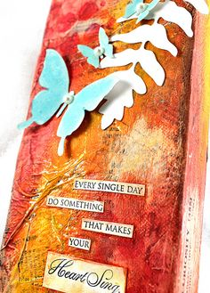 Mixed Media Canvas Tutorial, via Flickr.