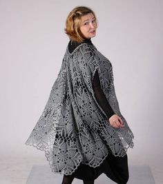 FREE SHIPPING** One size (Plus) - Comfortable up to 5XL! Fashions that flatter the full figured woman; Handmade Crocheted Tunic; Cover up.