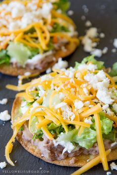Crunchy 10 Minute Oven Baked Tostadas take minutes to make and are better for yo… Crunchy 10 Minute Oven Baked Tostadas take minutes to make and are better for you than frying. Easy meal any night of the week and perfect for Cinco de Mayo! no meat meals Veggie Recipes, Mexican Food Recipes, Cooking Recipes, Healthy Recipes, Recipes Dinner, Tostada Recipes, Cooking Rice, Meatless Dinner Ideas, Easy Family Dinner Recipes
