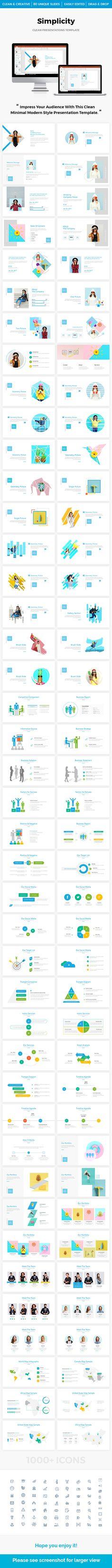 Simplicity - Multipurpose #PowerPoint Template 2018 - PowerPoint Templates Presentation Templates