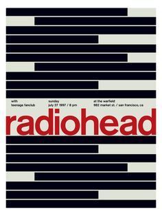 Radiohead (Poster Print) by Swissted at Gilt