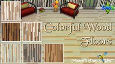 Annett's Sims 4 Welt: Colorful Wood Floors