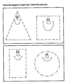 Meus Trabalhos Pedagógicos ®: Atividades Prontas - Formas Geométricas - Maternal