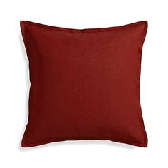 """Linden Garnet 23"""" Pillow with Feather Insert  