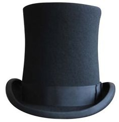 BLACK-LINCOLN-VICTORIAN-STYLE-HAT-HATS-FELT-ONE-SIZE-REGULAR