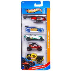 Hot Wheels Stunt Circuit 5-car Set