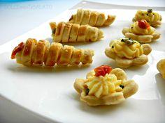bocconcini di pasta brise con crema pasticcera salata