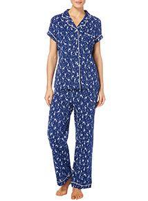 Navy Star Print Pyjama Set