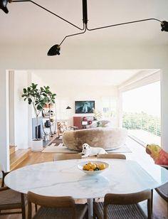 Saarinen Oval + Danish Midcentury Chair + Serge Mouille Lamp
