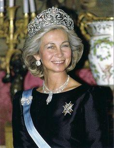 Queen Sofia Sparkles in the Fleur de Lis Tiara