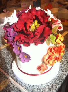 Hand Made Sugar Flower Cake by Kelsey Elizabeth Cakes