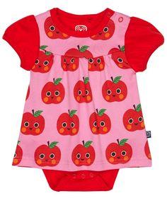 Ej Sikke Lej pink apple baby dress #myloveitfive