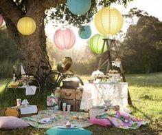Pastel coloured lanterns bring this to life