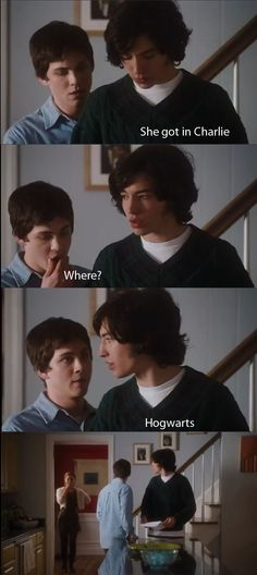 She Made It Charlie! Oh man... the perks of being a wallflower! Hilarious!
