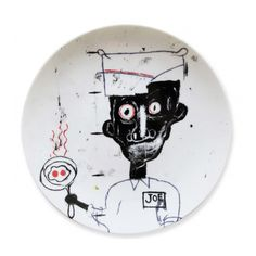 LACMA Store - Jean-Michel Basquiat 'Eyes & Eggs' Plate
