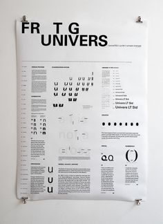 Typography poster Univers, 2012