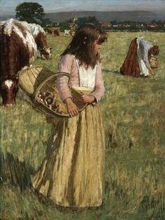 """The Mushroom Gatherers,"" Henry Herbert La Thangue (1859-1929)"