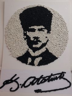 ATATÜRK HAFTASI.      HAZNEDAR Preschool Prep, Preschool Activities, Class Bulletin Boards, Diy And Crafts, Crafts For Kids, Pebble Art, Beaded Embroidery, Art School, Collage Art