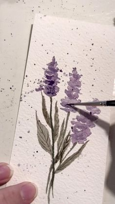 Link on my profile for 5 FREE things you should know about painting watercolor flowers!💛 How to paint lavenders with watercolors? Click three dots and visit so you can find out it on my Youtube Channel! It is especially for beginners 💜 Watercolor Paintings For Beginners, Watercolor Art Lessons, Watercolor Techniques, Painting With Watercolors, Tree Watercolor Painting, Watercolor Face, Watercolor Beginner, Watercolor Journal, Watercolor Lettering