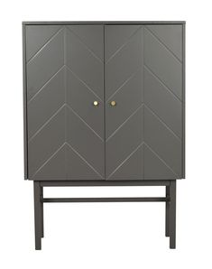 Grey Cabinets, Brass Color, Sideboard, Monochrome, Dresser, Shelves, Doors, Flooring, Storage