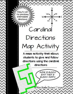 A great map activity to have students practice using cardinal and intermediate directions. $
