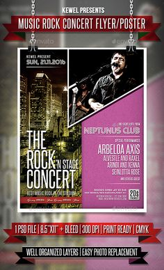 The Rock Concert Flyer  Templates  Flyer Template Template And