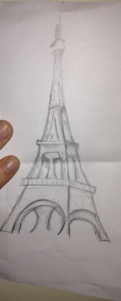 Free hand drawing of Eiffel Tower
