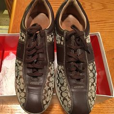 Coach Coach sneakers want to couple of times. One scratch in the front. Coach Shoes Sneakers