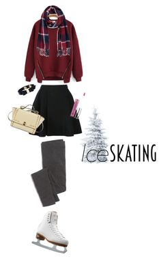 """So Cute: Ice Skating Style"" by dindydind ❤ liked on Polyvore featuring Avelon, Madewell, Riedell, Salvatore Ferragamo, Anastasia Beverly Hills and Forever 21"