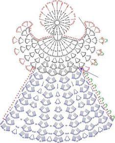 Over 20 Free Crochet Angel Patterns Crochet Ornament Patterns, Crochet Snowflake Pattern, Christmas Crochet Patterns, Crochet Ornaments, Holiday Crochet, Crochet Snowflakes, Crochet Motif, Crochet Flowers, Crochet Stitches