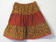 Harvest Skirt for Girls Autumn colors Handmade by creationsbyjessi on etsy.
