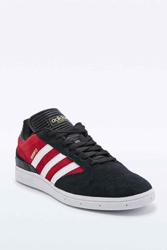 16856d696f9 adidas Originals Busenitz Trainers in Black and Red