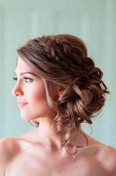 Düğün Nişan için Örgü Saç Modelleri