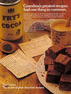 Vintage Ad #716: Grandma's Greatest Recipes and Fry's Cocoa by jbcurio, via Flickr