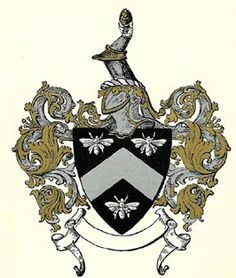 The Sewell family crest (just the shield and bees)