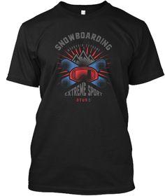 Snowboarding T Shirt Black T-Shirt Front