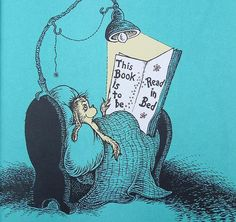 Seuss, born on this day in Springfield, Massachusetts. Here's a photo from my favorite Seuss book The Sleep Book Let's also celebrate World Book Day 📚 💕🌈 ! I Love Books, Books To Read, My Books, Reading Art, Reading Posters, Reading Books, World Of Books, Book Nooks, Book Nerd