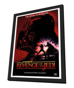 Look what I found on #zulily! Darth Vader 'Revenge of the Jedi' Framed Poster by Star Wars #zulilyfinds