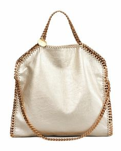 Falabella Fold-Over Shoulder Bag, Gold by Stella McCartney at Bergdorf Goodman.