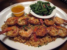Grilled Shrimp at Texas Roadhouse by Boots in the Oven, via Flickr --- This is for dad. He LOVED the shrimp and butter sauce that he had for dinner last night!