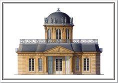 Pavillon de la Ménagerie du Chateau de Sceaux / By Andrew Zega and Bernd H. Dams, watercolor, Sceaux, Menagerie.