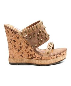 dc5b79406c57 Brown Too Adrift Wedge by Two Lips  zulily  zulilyfinds  24.99