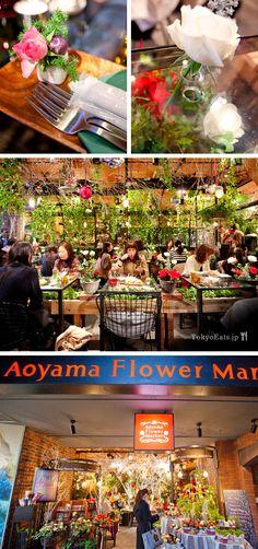 Tokyo : geniiiiiial pour prendre le the Aoyama Flower Market Tea House