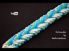 Not only make tutorials for my own designs, others designers are welcome. Rainbow Loom Bracelets Easy, Rainbow Loom Tutorials, Rainbow Loom Charms, Loom Bands Tutorial, Make Tutorial, Loom Crochet, Crochet Hooks, Monster Tail, Rubber Band Bracelet