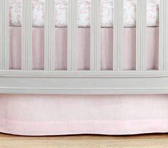Belgian Flax Linen Oval Crib Skirt