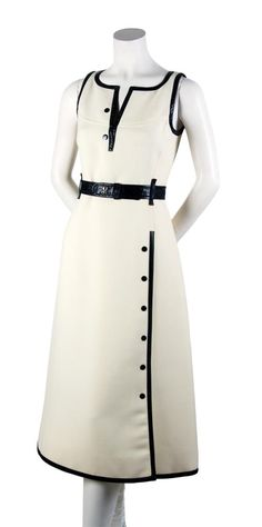 A Courreges White Wool Dress, 1960's