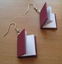 """How to make book earrings: Step-by-step DIY instructions were offered by wikiHow, which noted that you """"can make your own in a matter of hours and express your status as a bookworm or your belief in literacy."""""""