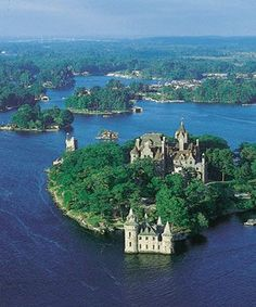 Boldt Castle, located on Heart Island in the Thousand Islands of the Saint Lawrence River, New York.