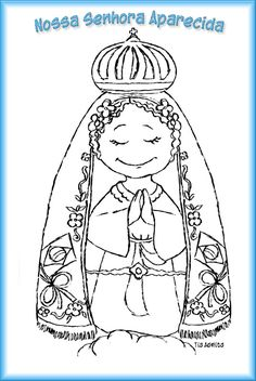 Imagem relacionada Scrap, Female, Kids, Our Lady, Coloring, Education, Kids Bible Activities, Sunday School Kids, Biblia