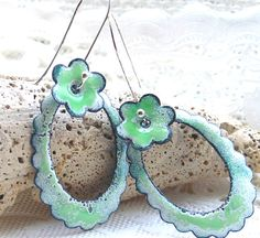 Enamel Jewelry Enamel Earrings Experimental by MeShellEnamels, $28.95